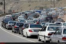 ترافیک نیمه سنگین در آزادراه کرج-تهران  بارش پراکنده باران در استان مازندران