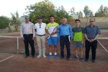 نفرات برتر مسابقات تنیس قهرمانی منطقه پنج کشور در یزد معرفی شدند
