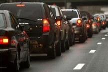 حجم بالای ترافیک در آزاد راه تهران- کرج - قزوین