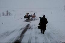 راهداران کردستانی مادر باردار را از دامان برف نجات دادند