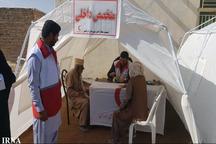 کاروان هلال احمر به بیش از 450 نفر ایرانشهری خدمت رسانی کرد