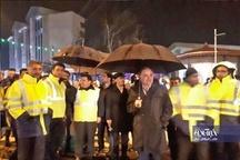 برگزاری مانور آمادگی خودروهای مقابله با بحران بارش برف با حضور فرماندار آستارا | تصاویر