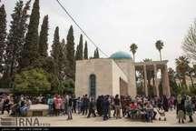 افزون بر 27 هزار نفر در یادروز سعدی از آرامگاه سخن سرای نامی ایران بازدید کردند