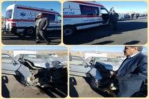 مصدوم شدن 2 معلم براثر تصادف خودرو در جاده روستایی شهرستان زاوه