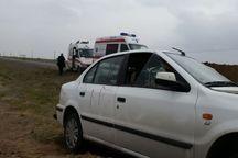 پنج نفر طی سانحه رانندگی در سبزوار جراحت دیدند