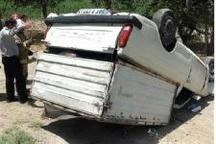 یک کشته در واژگونی خودرو  در محور اراک-مشکآباد