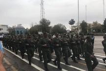 صبحگاه مشترک نیروهای مسلح در قزوین برگزار شد