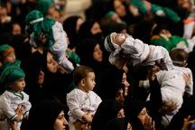 همایش شیرخوارگان حسینی با حضور 15 هزار نوزاد کاشانی