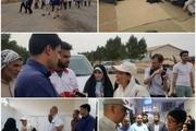 بازدید نمایندگان سفارت های خارجی و هیأت اعزامی سازمان ملل از سیل زدگان شهرستان حمیدیه