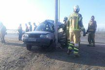 تصادف پراید در آزاد راه تهران- قم یک کشته داشت