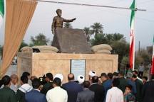تندیس سردار شهید علی حاجبی در رودان رونمایی شد