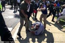 عکس/ تصاویر شوکه کننده از حمله حامیان و محافظان اردوغان به مخالفان
