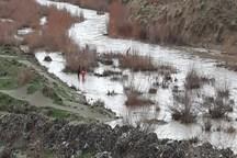رودخانه های خطرساز همدان دیواره سازی شد