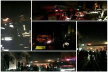 مهار آتش سوزی مسجد امام جعفرصادق رشت با تلاش 32 آتش نشان