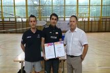 والیبالیست مهابادی مدرک مربیگری بینالمللی کسب کرد