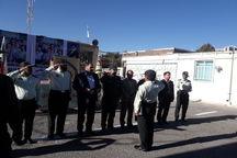 صبحگاه مشترک نیروی انتظامی در سلسله برگزار شد
