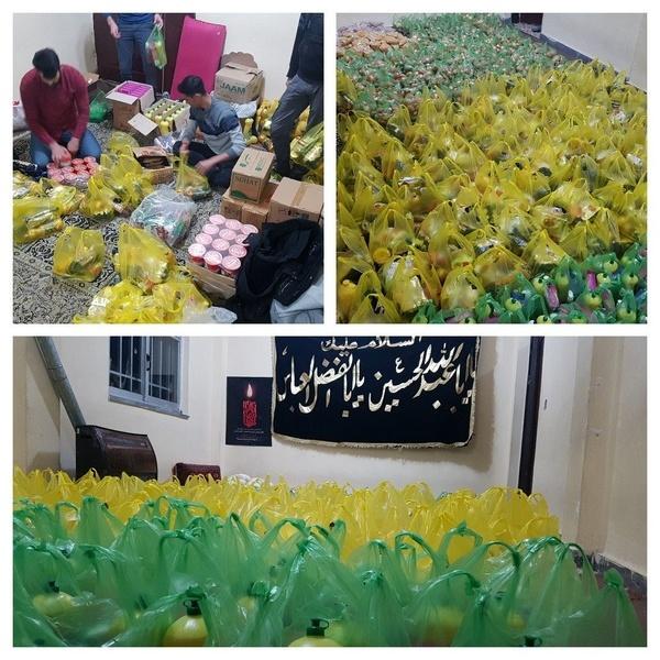 اهدای ۱۳۰ بسته مواد غذایی به نیازمندان در فومن