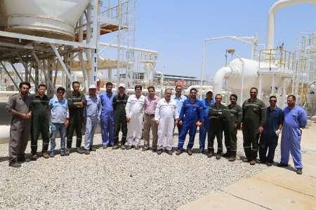 اتمام تعمیرات تجهیزات ثابت تأسیسات تقویت فشارگاز آب شیرین درمنطقه شش