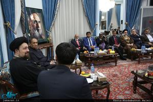 دیدار ریس مجلس سریلانکا با سید حسن خمینی