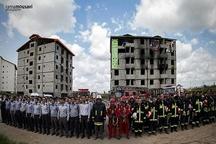 پوشش ۵۹ مورد حریق، حادثه و خدمات ایمنی توسط آتشنشانان شهر باران