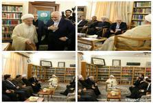 دیدار ظریف با آیت الله العظمی مکارم شیرازی