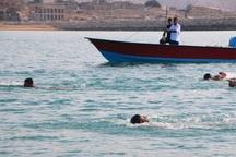 مسابقه شنا آبهای آزاد استان بوشهر در دشتی برگزار شد