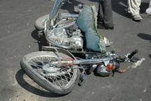 تصادف موتورسیکلت با پراید در جاجرم یک کشته داشت