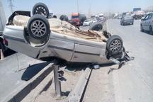 واژگونی خودرو در شهرضا یک کشته داشت