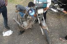 تابلو کنار جاده، مرگ موتورسیکلت سوار را رقم زد