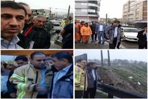 استاندار البرز از سطح شهر و نقاط پرخطر استان بازدید کرد