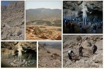 مسیر غار تاریخی شاپور کازرون در حال مرمت است
