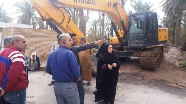 سد خاکی اضطراری در منطقه تنگه 3 آبادان احداث شد