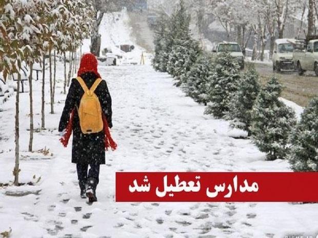 سرما و بارش برف مدارس چند شهرستان خراسان رضوی را تعطیل کرد