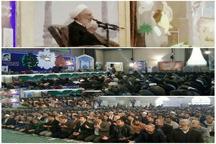 مراسم دعای ندبه با حضور آیت الله صدیقی در زاهدان برگزار شد