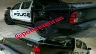 توقیف خودروی قلابی پلیس در خیابان زعفرانیه