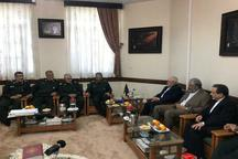 دیدار وزیر امور خارجه با فرماندهان عالی رتبه سپاه+ عکس