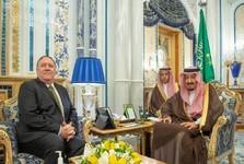دیدار وزیر خارجه آمریکا با پادشاه عربستان سعودی+عکس