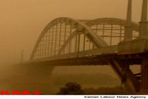 گرد و غبار در خوزستان 4 برابر حد مجاز   اهواز و سوسنگرد با بالاترین غلظت گرد و خاک