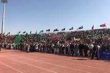 تجمع 20 هزار نفری بسیجیان قزوین آغاز شد