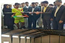 افتتاح سرسرای ورزشی در روستای کمب چابهار