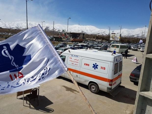 خدمات رسانی 50 پایگاه اورژانس چهارمحال و بختیاری به مسافران نوروزی