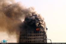 آتش سوزی گسترده در ساختمان پلاسکو