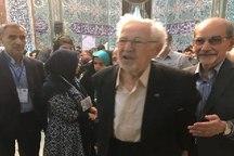 حضور ابراهیم یزدی در حسینیه ارشاد+ عکس
