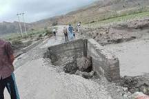 سیل راه ارتباطی 9 روستای پلدختر را قطع کرد