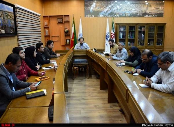 گزارش تصویری نشست خبری شهردار آبادان در خصوص سیل
