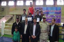 قصرشیرین مقام نخست مسابقه های بوکس چهار جانبه را کسب کرد
