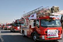 رژه خودرویی آتش نشانی نقده برگزار شد
