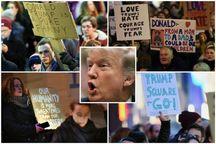 خیز انگلیسی ها علیه ترامپ + تصاویر