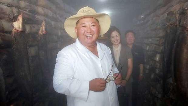 بازدید رهبر کره شمالی از یک مرکز پرورش ماهی+تصاویر