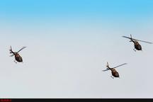 هشت فروند بالگرد هوانیروز به سمت پلدختر به پرواز درآمدند